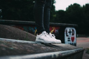 standing on concrete